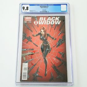 Black Widow (2014) #1 CGC 9.8 NM/M J. Scott Campbell Variant Front