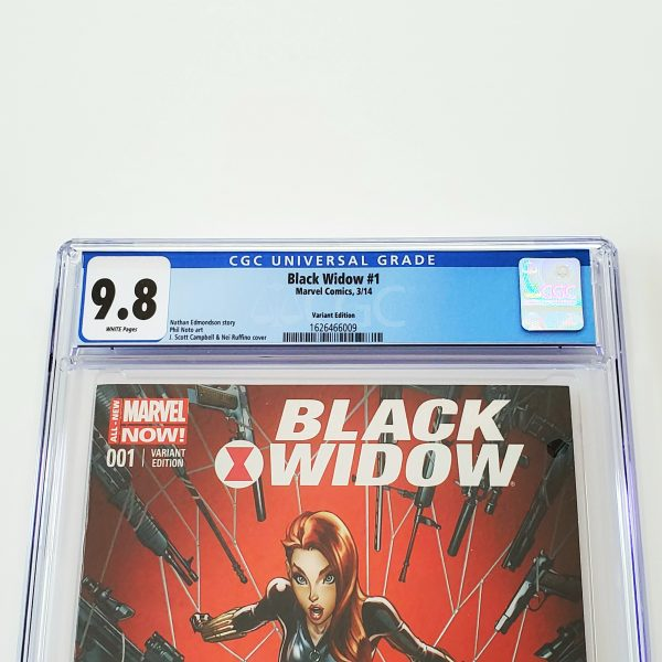 Black Widow (2014) #1 CGC 9.8 NM/M J. Scott Campbell Variant Front Label
