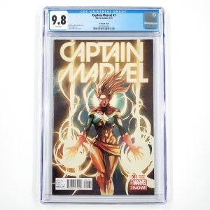 Captain Marvel (2014) #1 CGC 9.8 NM/M Yu Variant Front