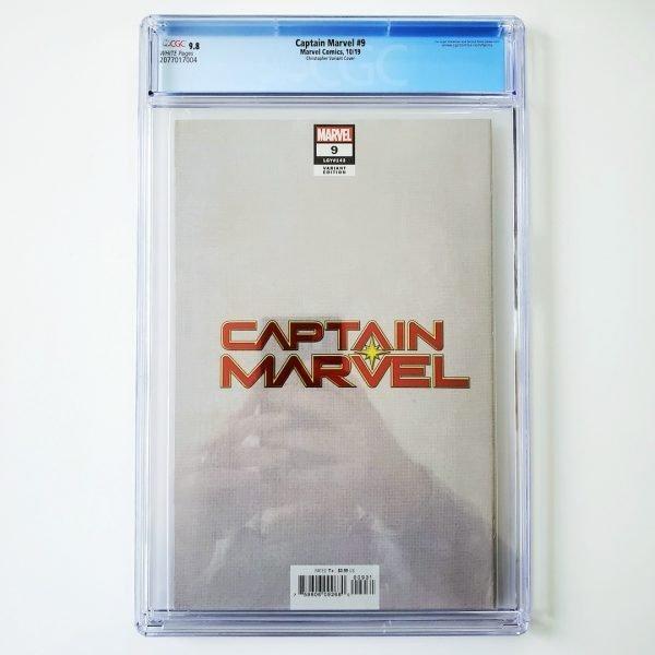 Captain Marvel (2019) #9 CGC 9.8 NM/M Christopher Variant Back