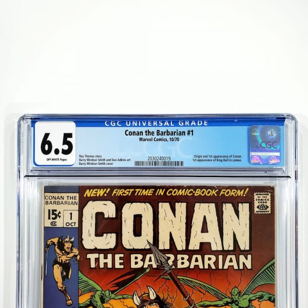 Conan The Barbarian #1 CGC 6.5 FN+ Front Label