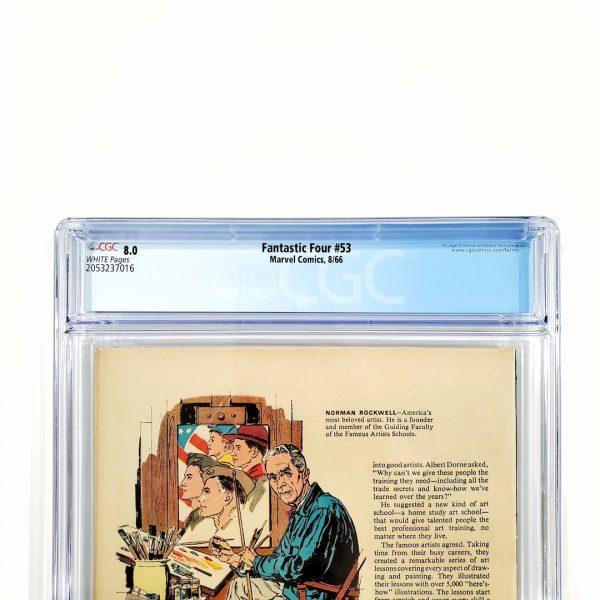 Fantastic Four #53 CGC 8.0 VF Back Label