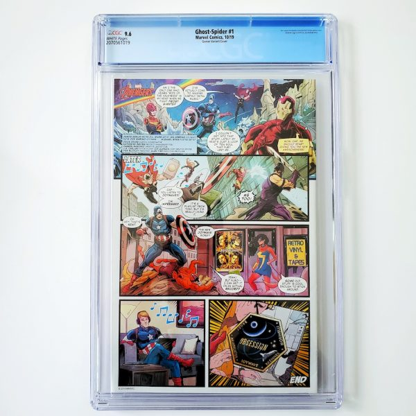 Ghost-Spider #1 CGC 9.6 NM+ Gomez Variant Back