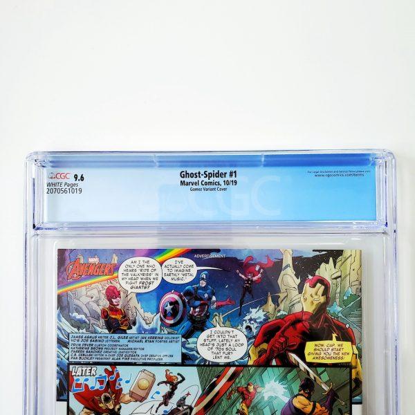 Ghost-Spider #1 CGC 9.6 NM+ Gomez Variant Back Label
