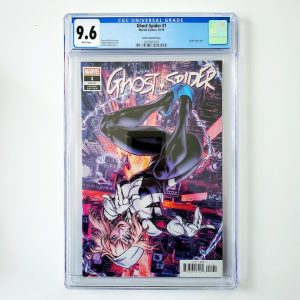 Ghost-Spider #1 CGC 9.6 NM+ Gomez Variant Front