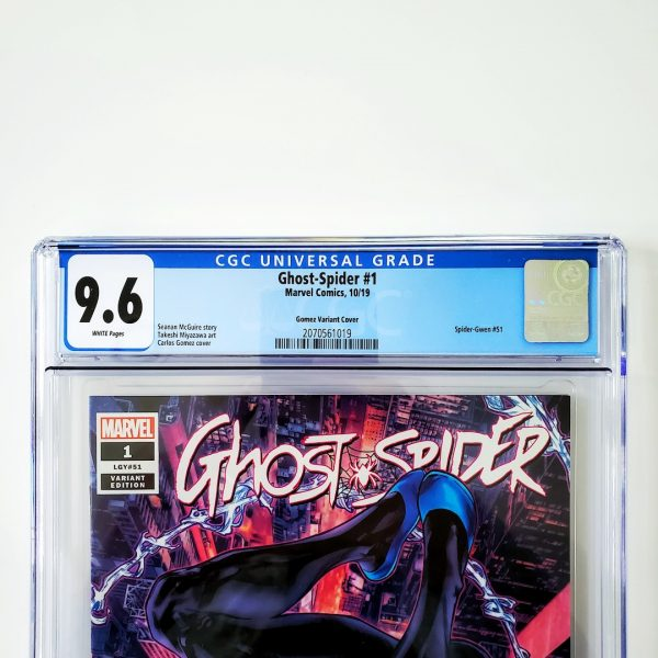 Ghost-Spider #1 CGC 9.6 NM+ Gomez Variant Front Label