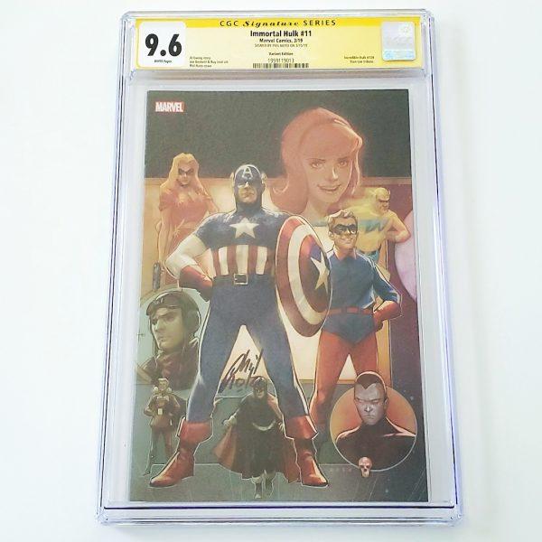 Immortal Hulk #11 CGC SS 9.6 NM+ Marvel 80th Anniversary Variant Front
