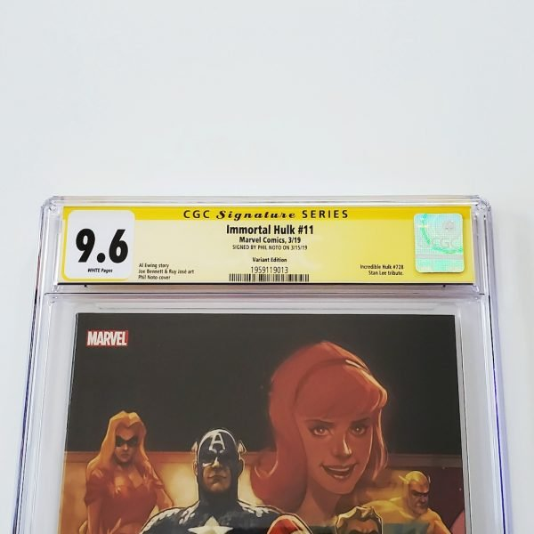 Immortal Hulk #11 CGC SS 9.6 NM+ Marvel 80th Anniversary Variant Front Label