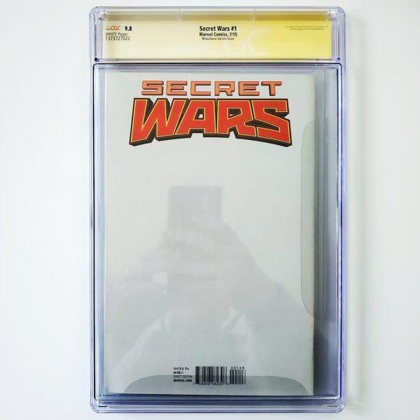 Secret Wars #1 CGC SS 9.8 NM/M McGuinness Variant Back