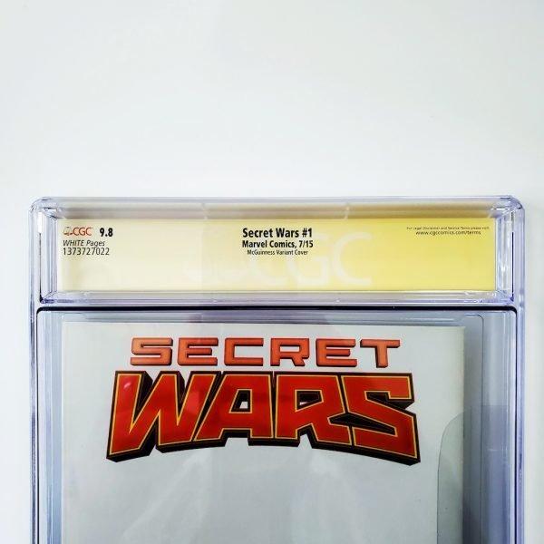 Secret Wars #1 CGC SS 9.8 NM/M McGuinness Variant Back Label