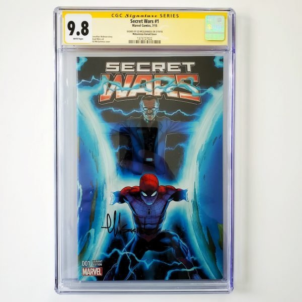 Secret Wars #1 CGC SS 9.8 NM/M McGuinness Variant Front