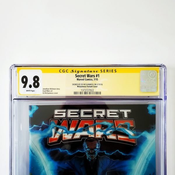 Secret Wars #1 CGC SS 9.8 NM/M McGuinness Variant Front Label