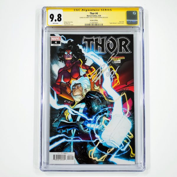 Thor (2020) #4 CGC SS 9.8 NM/M Variant Front