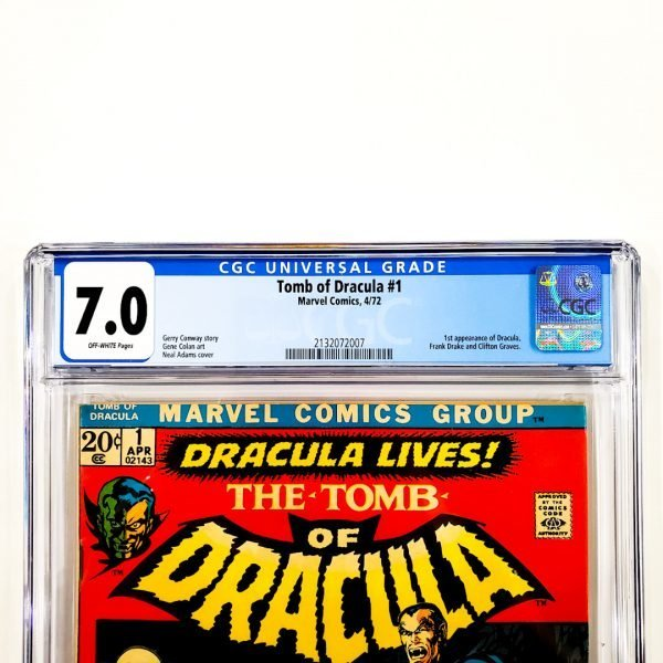 Tomb of Dracula #1 CGC 7.0 FN/VF Front Label