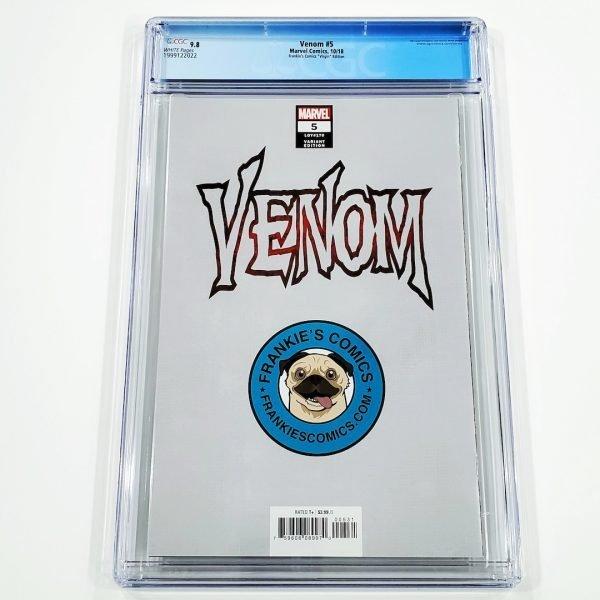 Venom (2018) #5 CGC 9.8 NM/M Frankie's Comics Virgin Variant Back