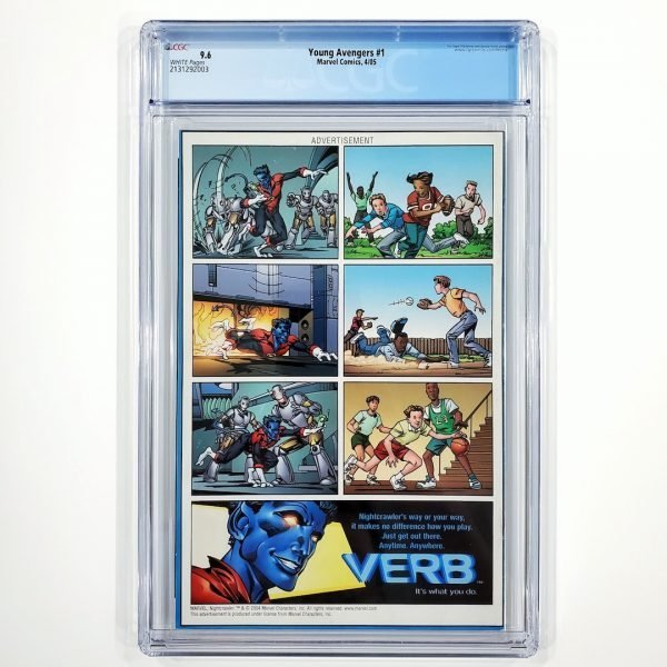 Young Avengers #1 CGC 9.6 NM+ Back
