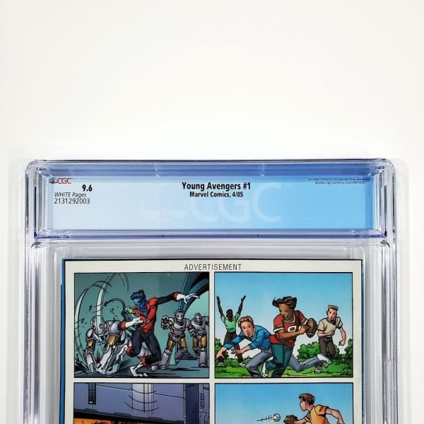 Young Avengers #1 CGC 9.6 NM+ Back Label