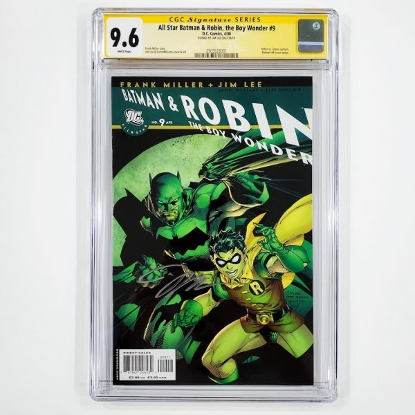 All Star Batman & Robin, the Boy Wonder #9 CGC SS 9.6 NM+ Front