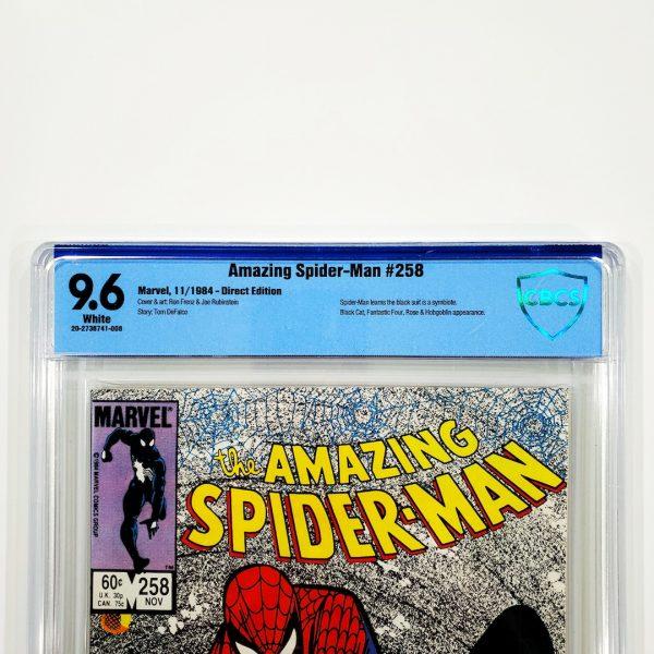 Amazing Spider-Man #258 CBCS 9.6 NM+ Front Label