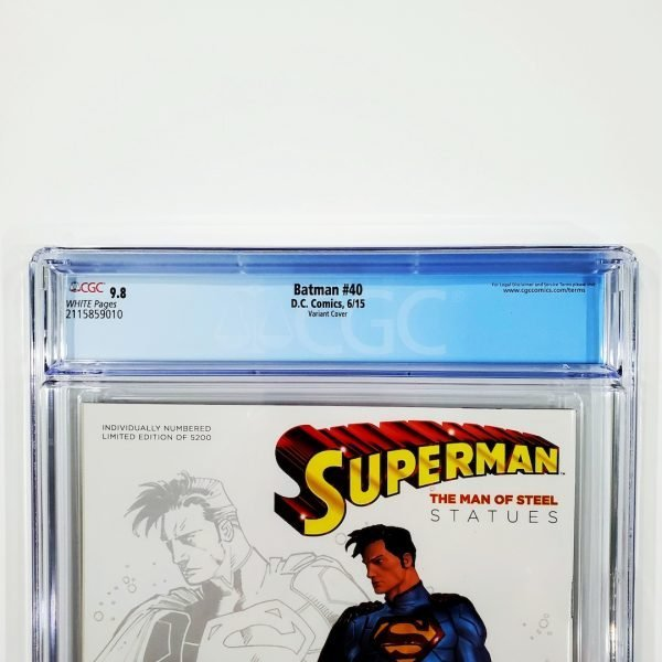 Batman #40 CGC 9.8 NM/M Movie Poster Variant Back Label