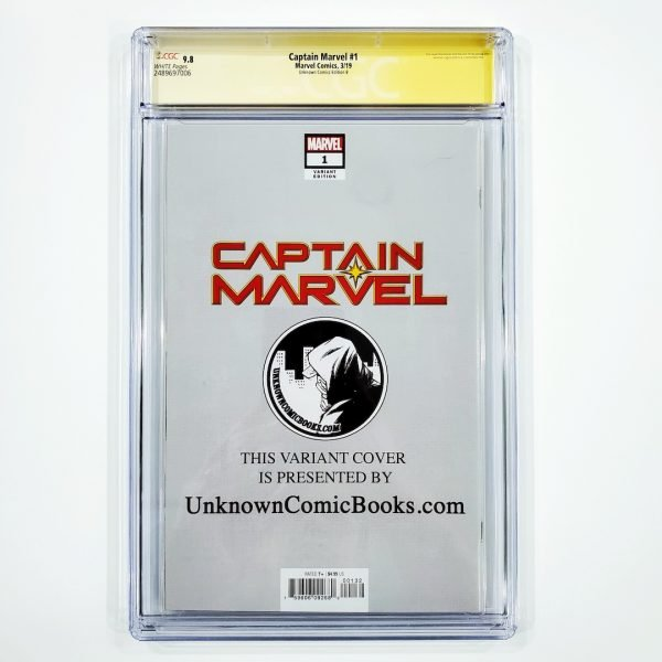 Captain Marvel (2019) #1 CGC SS 9.8 NM/M Unknown Comics Edition B Back