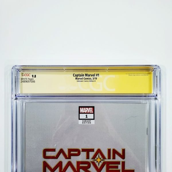 Captain Marvel (2019) #1 CGC SS 9.8 NM/M Unknown Comics Edition B Back Label