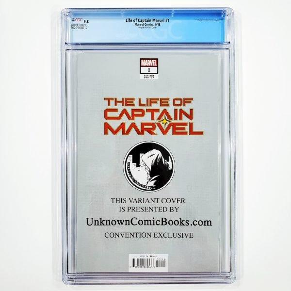 Life of Captain Marvel #1 CGC 9.8 NM/M Adam Hughes Variant Back