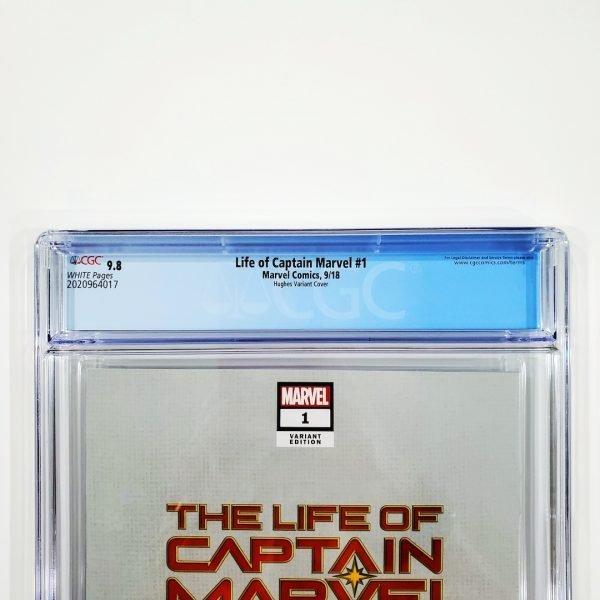 Life of Captain Marvel #1 CGC 9.8 NM/M Adam Hughes Variant Back Label
