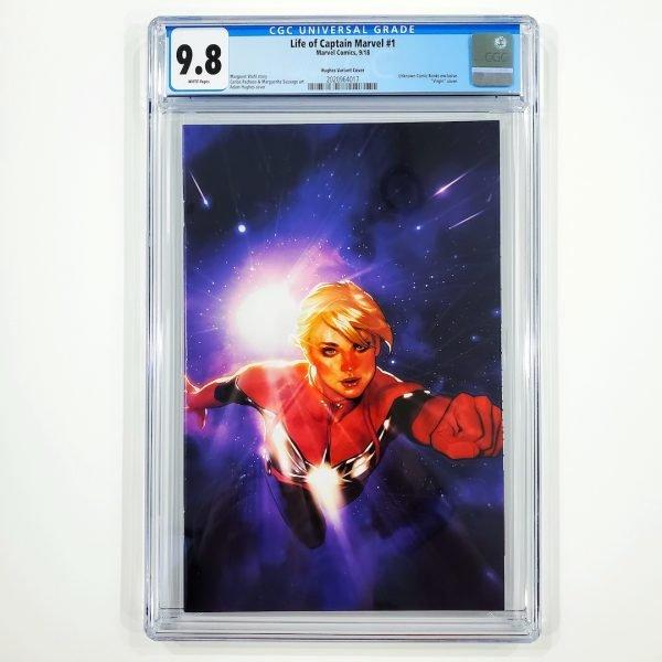 Life of Captain Marvel #1 CGC 9.8 NM/M Adam Hughes Variant Front