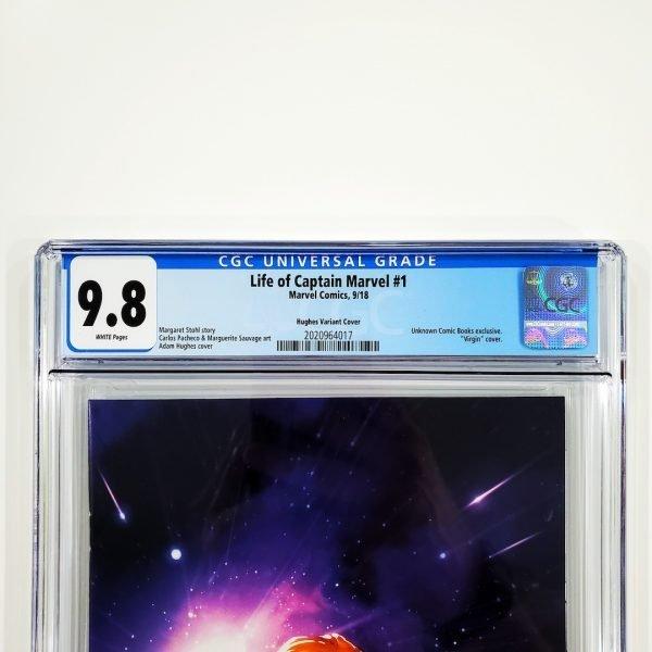 Life of Captain Marvel #1 CGC 9.8 NM/M Adam Hughes Variant Front Label