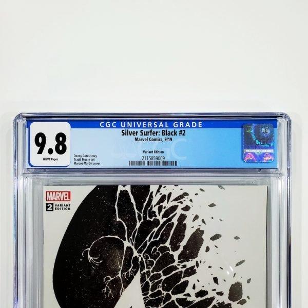 Silver Surfer: Black #2 CGC 9.8 NM/M Martin Variant Front Label