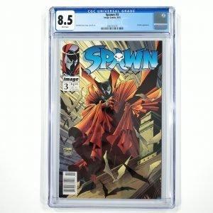 Spawn #3 CGC 8.5 VF+ Newsstand Edition Front