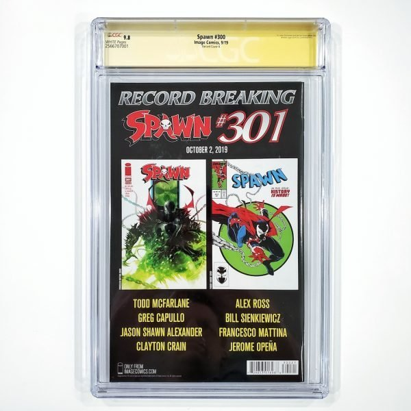 Spawn #300 CGC SS 9.8 NM/M Variant Cover K Back