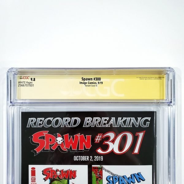 Spawn #300 CGC SS 9.8 NM/M Variant Cover K Back Label