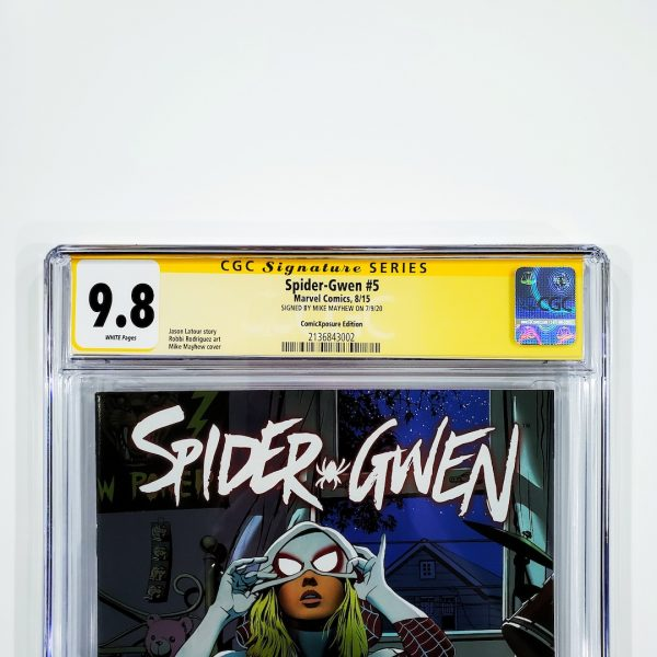 Spider-Gwen #5 CGC SS 9.8 NM/M ComicXposure Variant Front Label