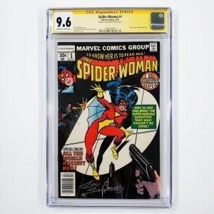 Spider-Woman #1 CGC SS 9.6 NM+ Front