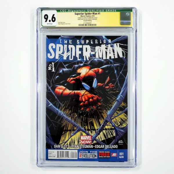Superior Spider-Man #1 CGC SS 9.6 NM+ 2nd Printing Variant Front