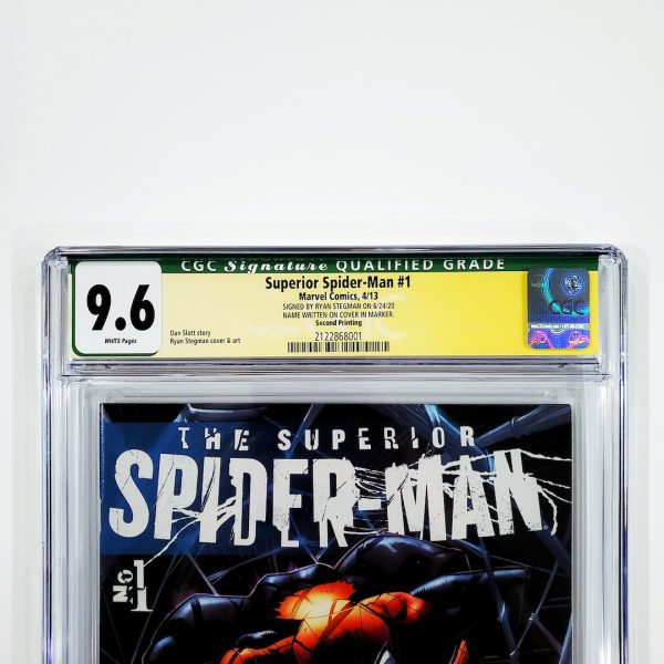 Superior Spider-Man #1 CGC SS 9.6 NM+ 2nd Printing Variant Front Label