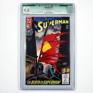 Superman #75 CGC Q 9.8 NM/M Signed by Jerry Siegel Front