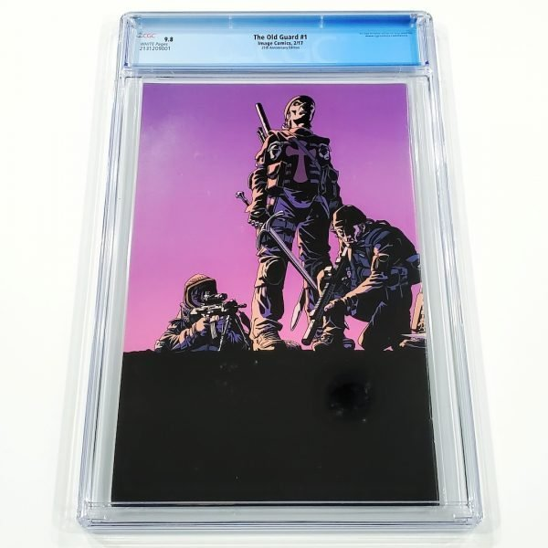 The Old Guard #1 CGC 9.8 NM/M 25th Anniversary Variant Back