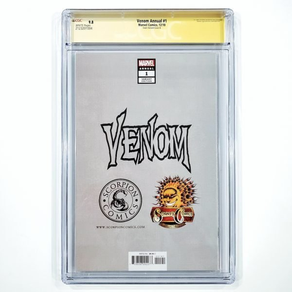 Venom Annual #1 CGC SS 9.8 NM/M Crain Virgin Variant B Back