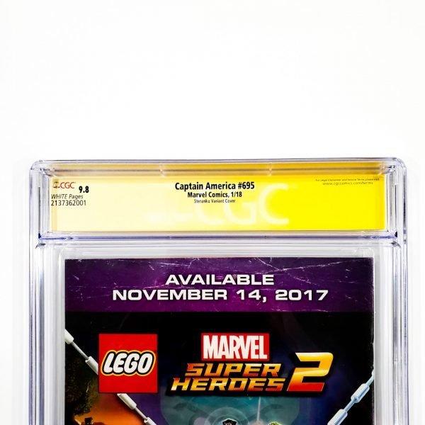 Captain America #695 CGC SS 9.8 NM/M Steranko Variant Back Label