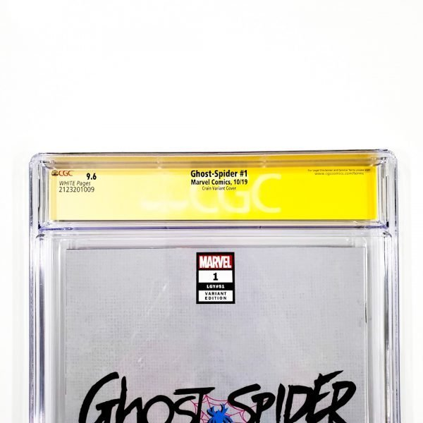 Ghost-Spider #1 CGC SS 9.6 NM+ Crain Variant Back Label