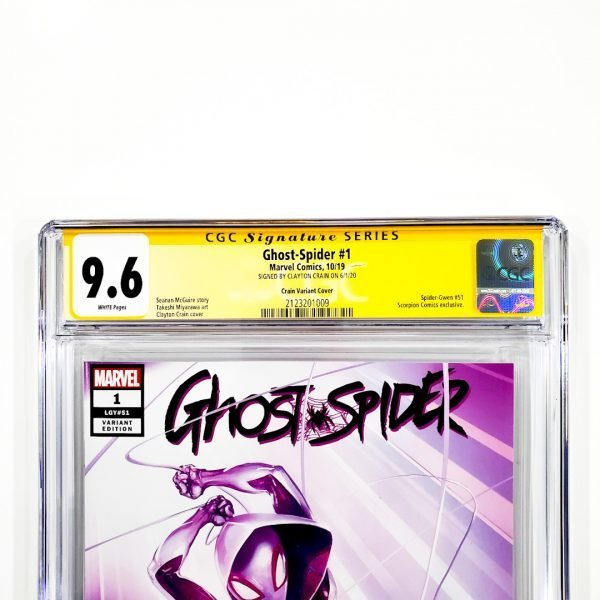 Ghost-Spider #1 CGC SS 9.6 NM+ Crain Variant Front Label