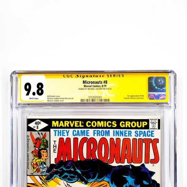 Micronauts #8 CGC SS 9.8 NM/M Front Label