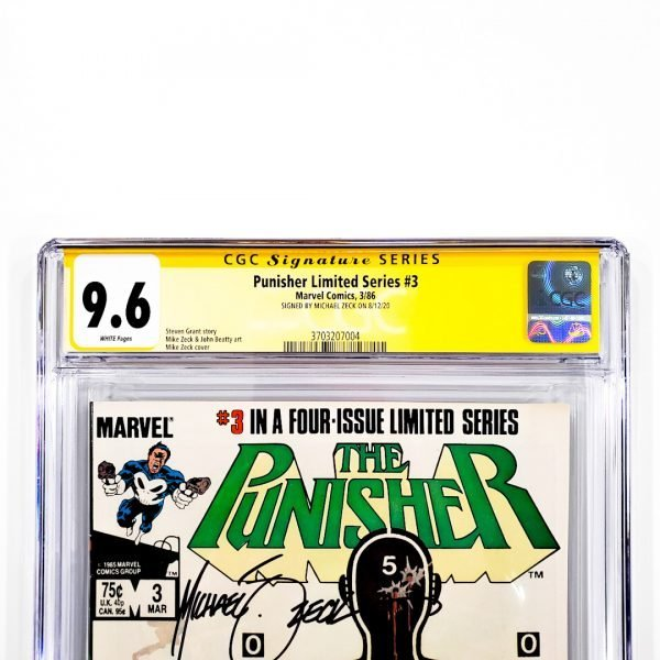Punisher Limited Series #3 CGC SS 9.6 NM+ Front Label