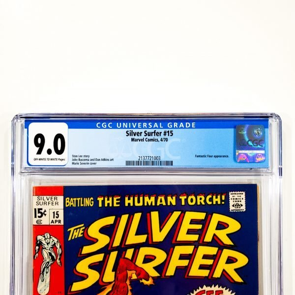 Silver Surfer #15 CGC 9.0 VF/NM Front Label