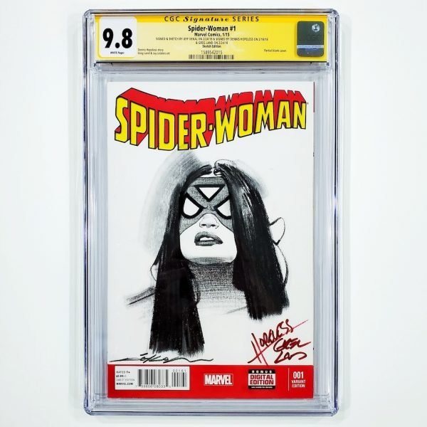 Spider-Woman (2015) #1 CGC SS 9.8 NM/M Sketch Variant Front