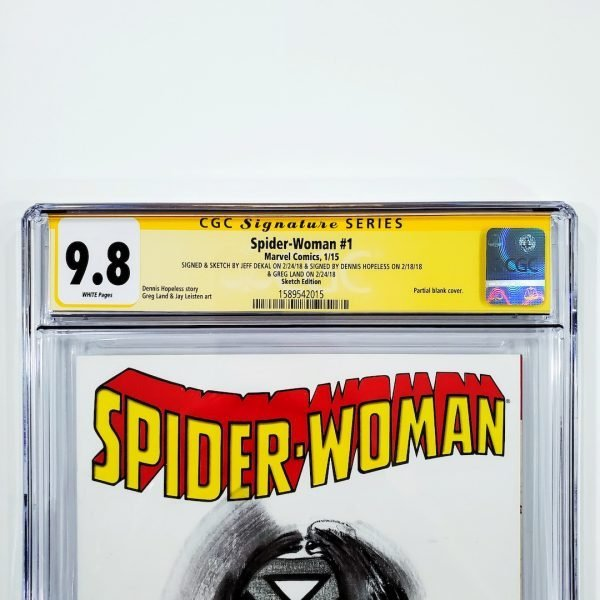 Spider-Woman (2015) #1 CGC SS 9.8 NM/M Sketch Variant Front Label