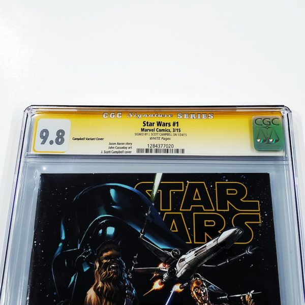 Star Wars (2015) #1 CGC SS 9.8 NM/M Campbell Variant Front Label